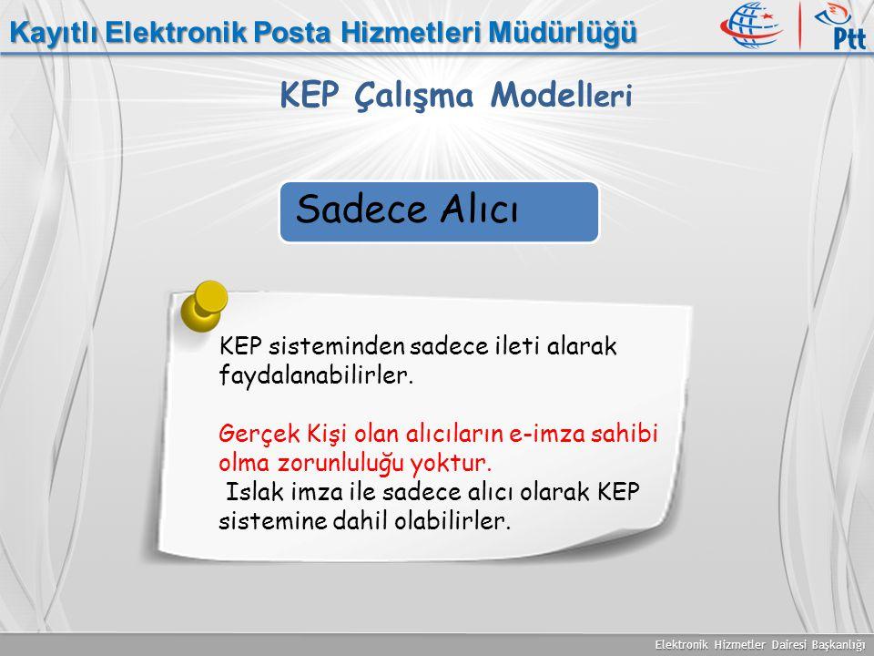 Sadece Alıcı KEP Çalışma Modelleri