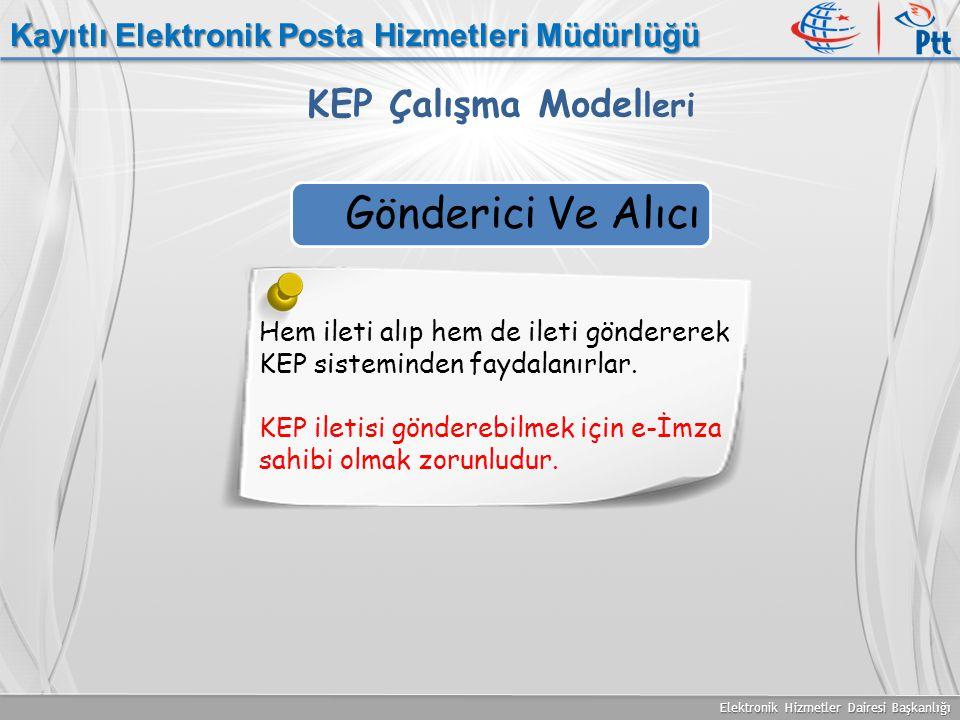 Gönderici Ve Alıcı KEP Çalışma Modelleri