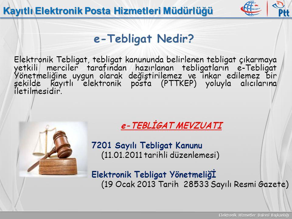 e-Tebligat Nedir Kayıtlı Elektronik Posta Hizmetleri Müdürlüğü