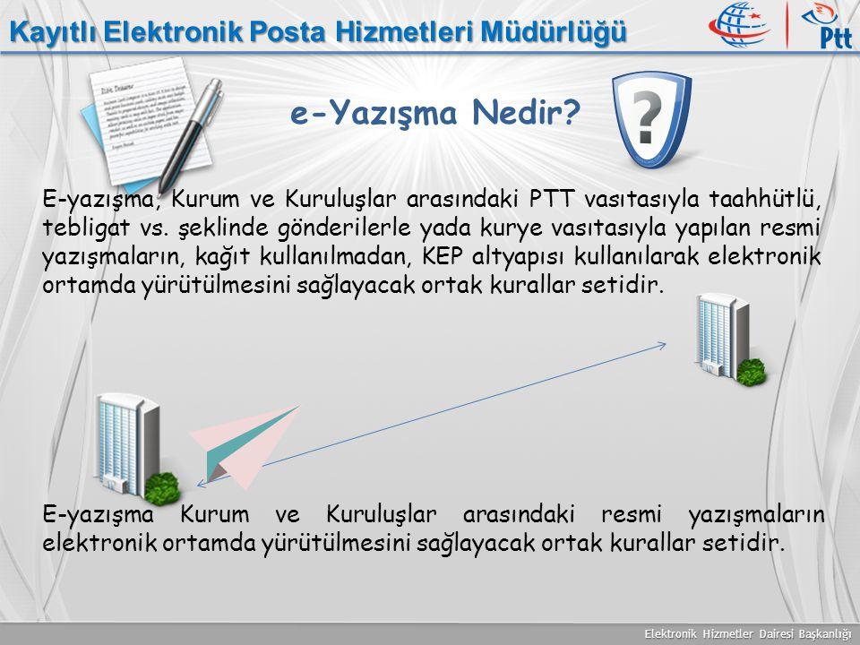 e-Yazışma Nedir Kayıtlı Elektronik Posta Hizmetleri Müdürlüğü