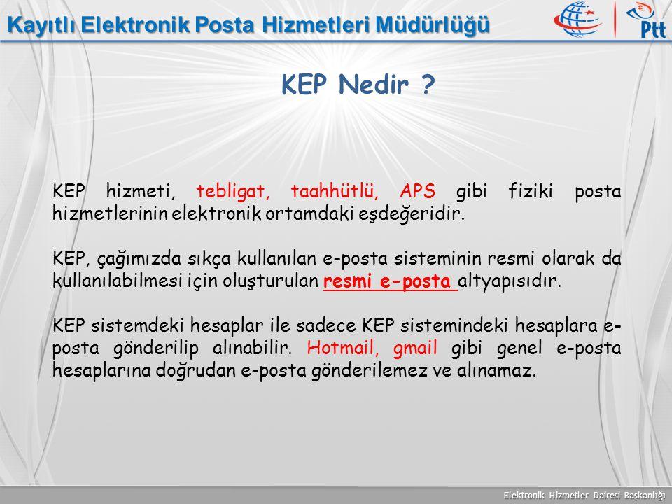 KEP Nedir Kayıtlı Elektronik Posta Hizmetleri Müdürlüğü