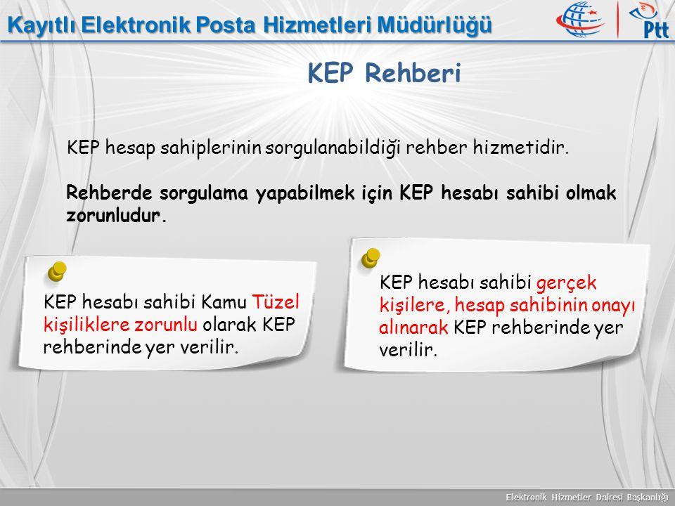 KEP Rehberi Kayıtlı Elektronik Posta Hizmetleri Müdürlüğü