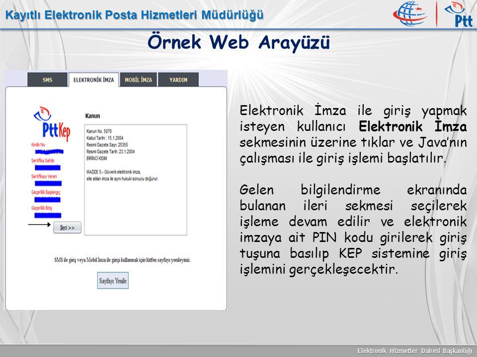 Kayıtlı Elektronik Posta Hizmetleri Müdürlüğü