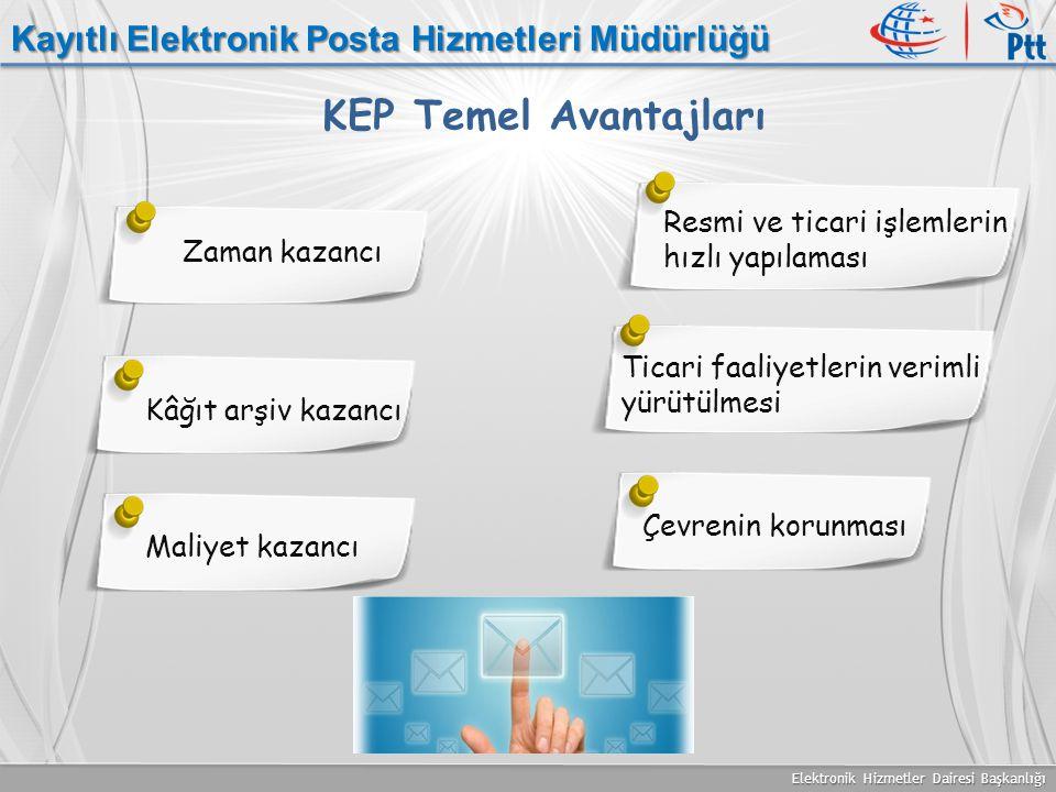KEP Temel Avantajları Kayıtlı Elektronik Posta Hizmetleri Müdürlüğü