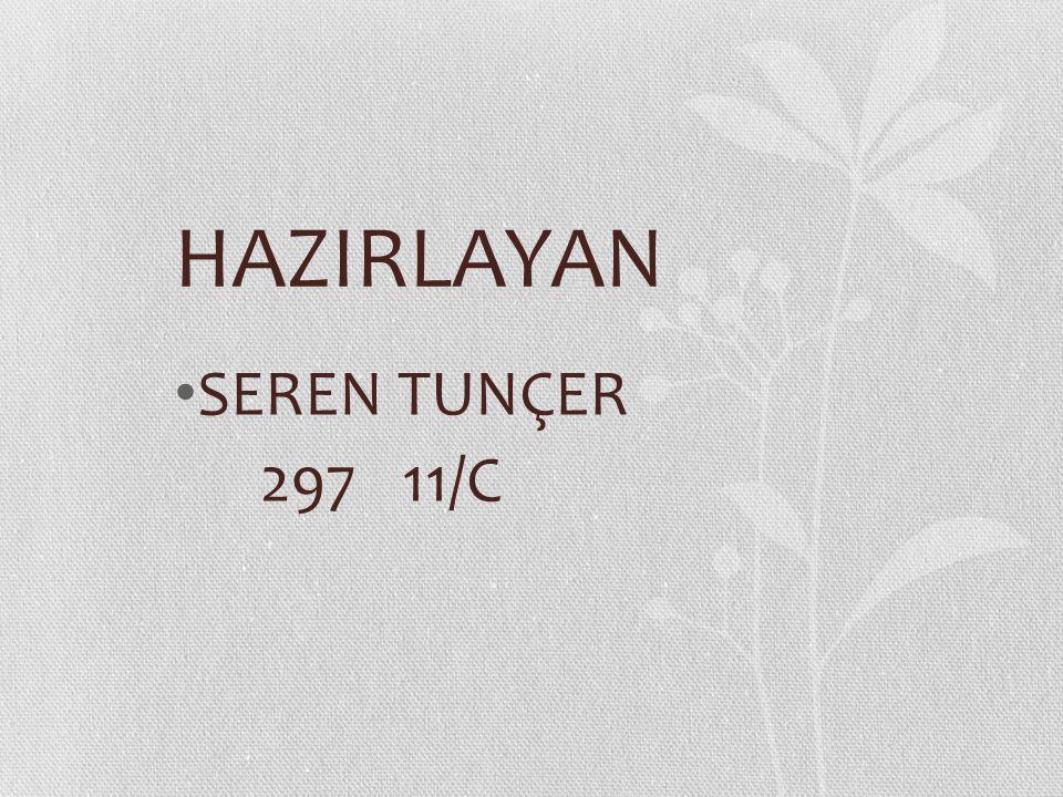 HAZIRLAYAN SEREN TUNÇER 297 11/C