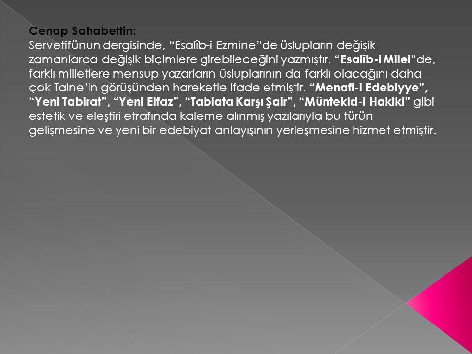 Cenap Sahabettin: