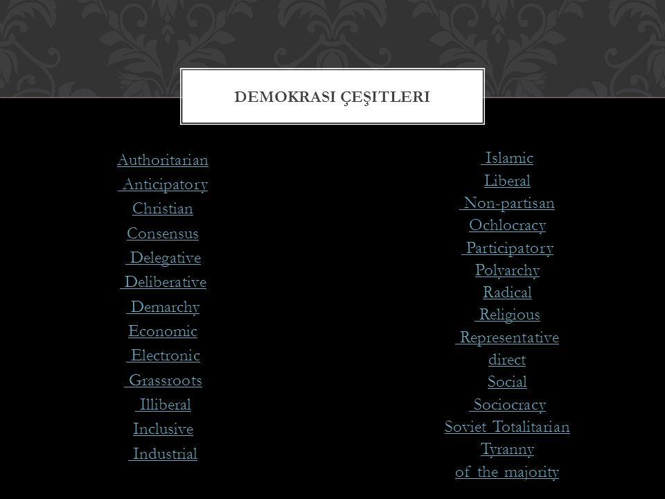 Demokrasi çeşitleri