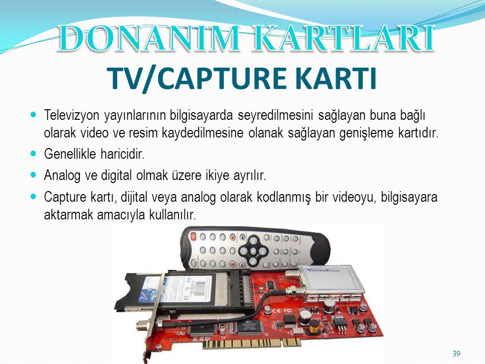 TV/CAPTURE KARTI