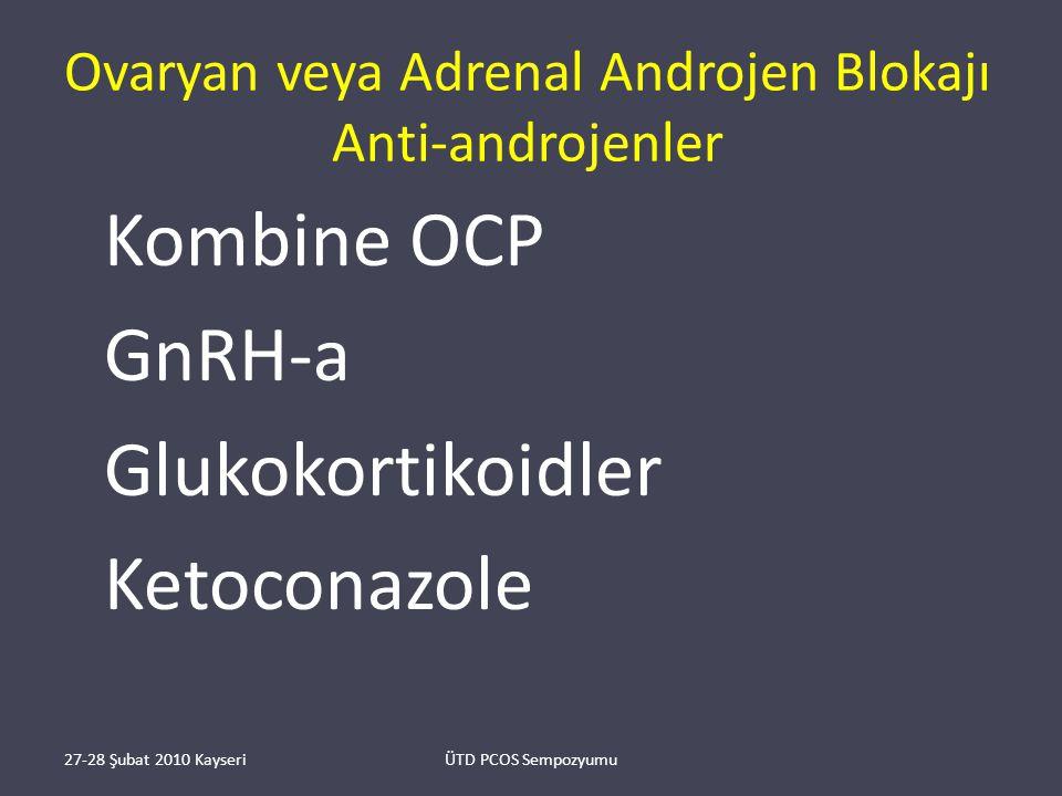 Ovaryan veya Adrenal Androjen Blokajı Anti-androjenler
