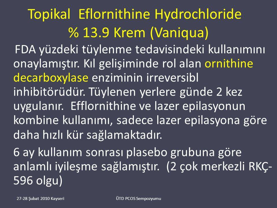 Topikal Eflornithine Hydrochloride % 13.9 Krem (Vaniqua)