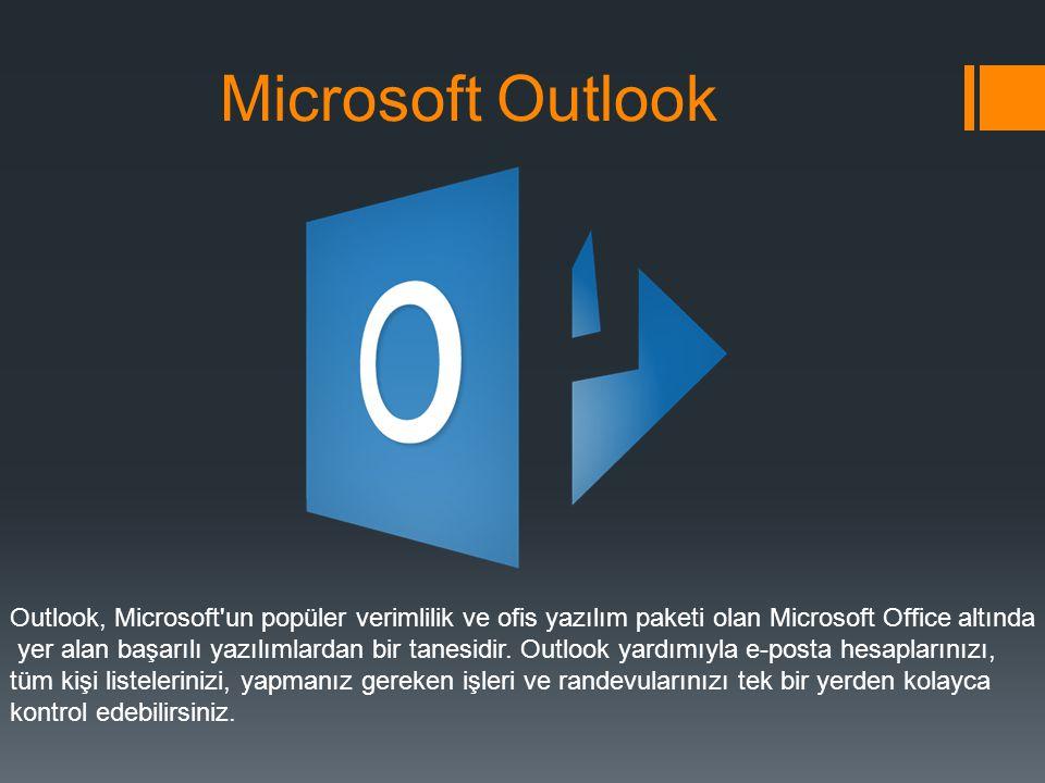 Microsoft Outlook Outlook, Microsoft un popüler verimlilik ve ofis yazılım paketi olan Microsoft Office altında.