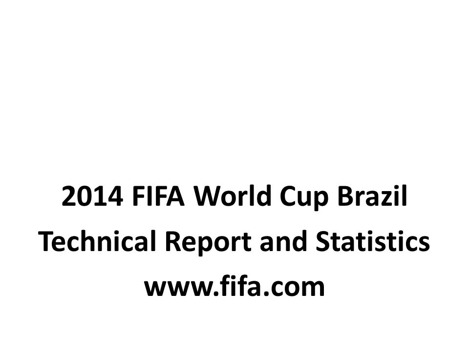 Technical Report and Statistics