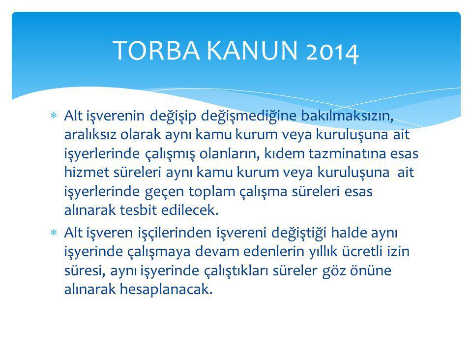 TORBA KANUN 2014