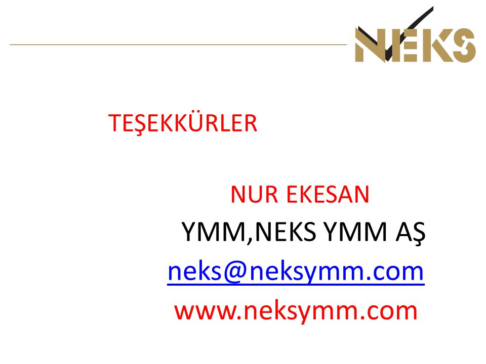 neks@neksymm.com www.neksymm.com TEŞEKKÜRLER NUR EKESAN