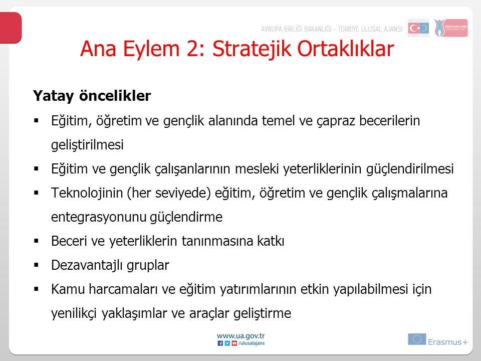 Ana Eylem 2: Stratejik Ortaklıklar