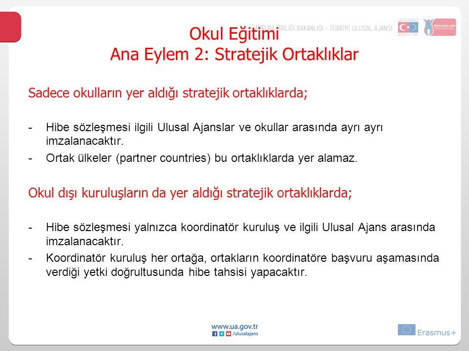 Okul Eğitimi Ana Eylem 2: Stratejik Ortaklıklar