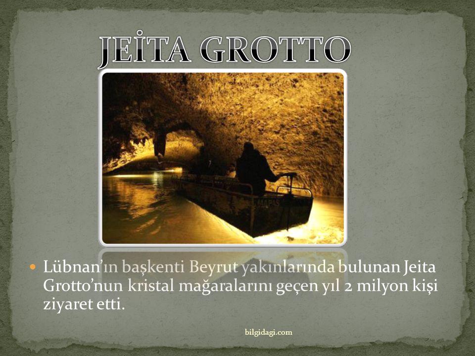 JEİTA GROTTO Lübnan'ın başkenti Beyrut yakınlarında bulunan Jeita Grotto'nun kristal mağaralarını geçen yıl 2 milyon kişi ziyaret etti.
