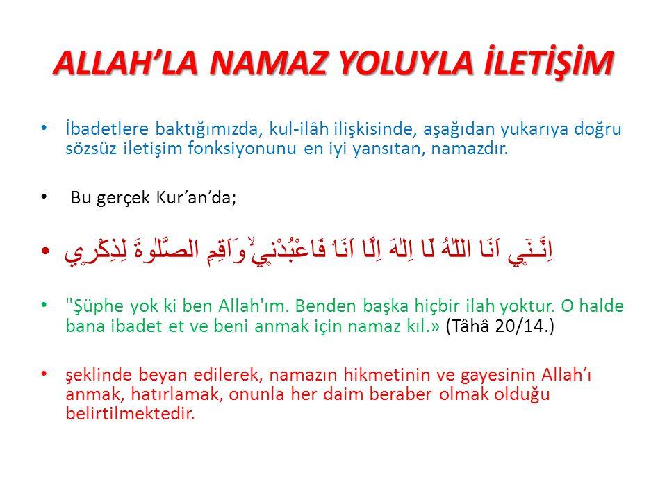 ALLAH'LA NAMAZ YOLUYLA İLETİŞİM