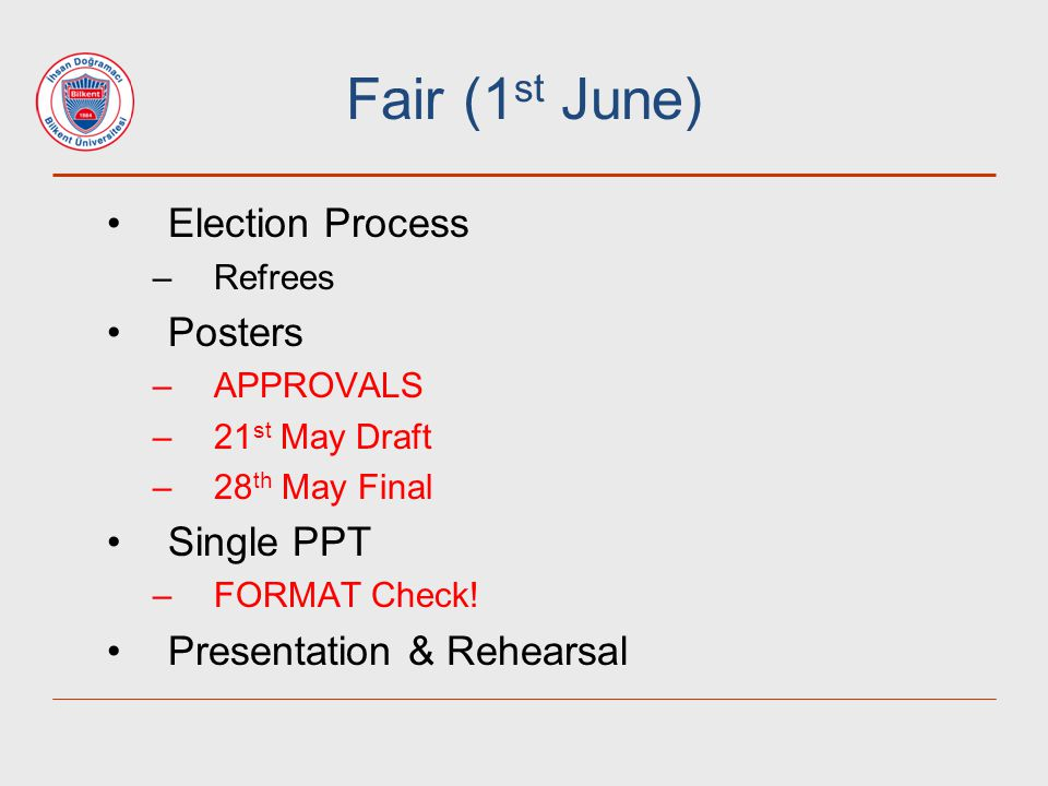 Fair (1st June) Election Process Posters Single PPT