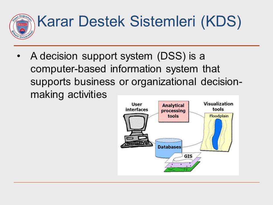 Karar Destek Sistemleri (KDS)