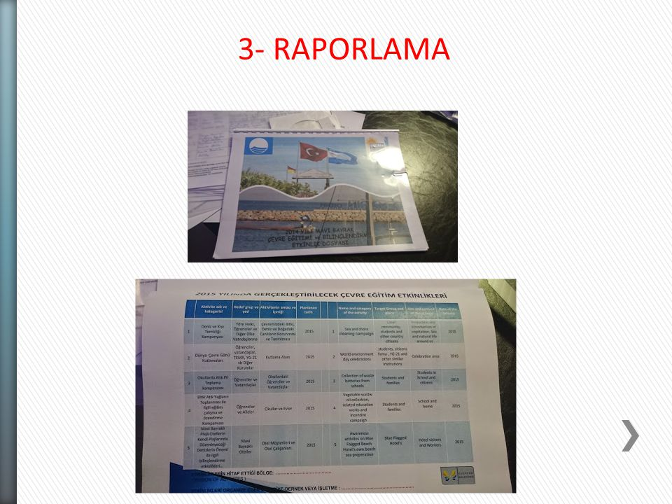 3- RAPORLAMA