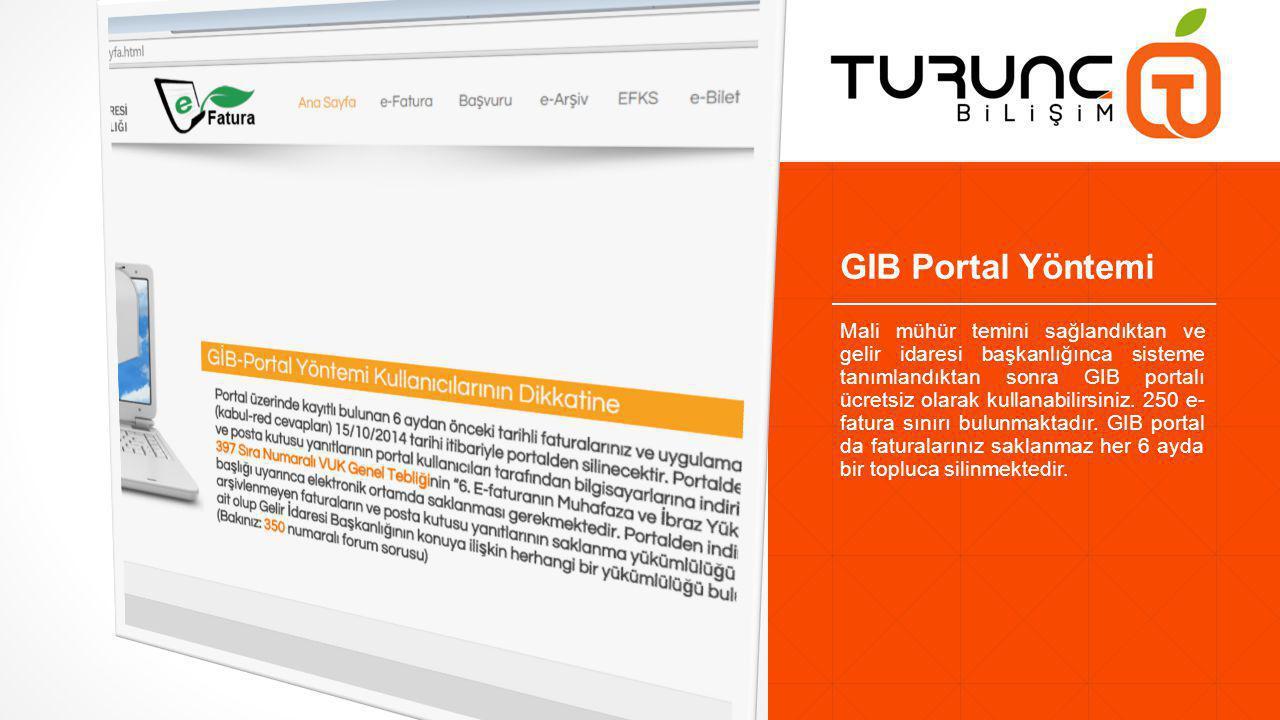 GIB Portal Yöntemi