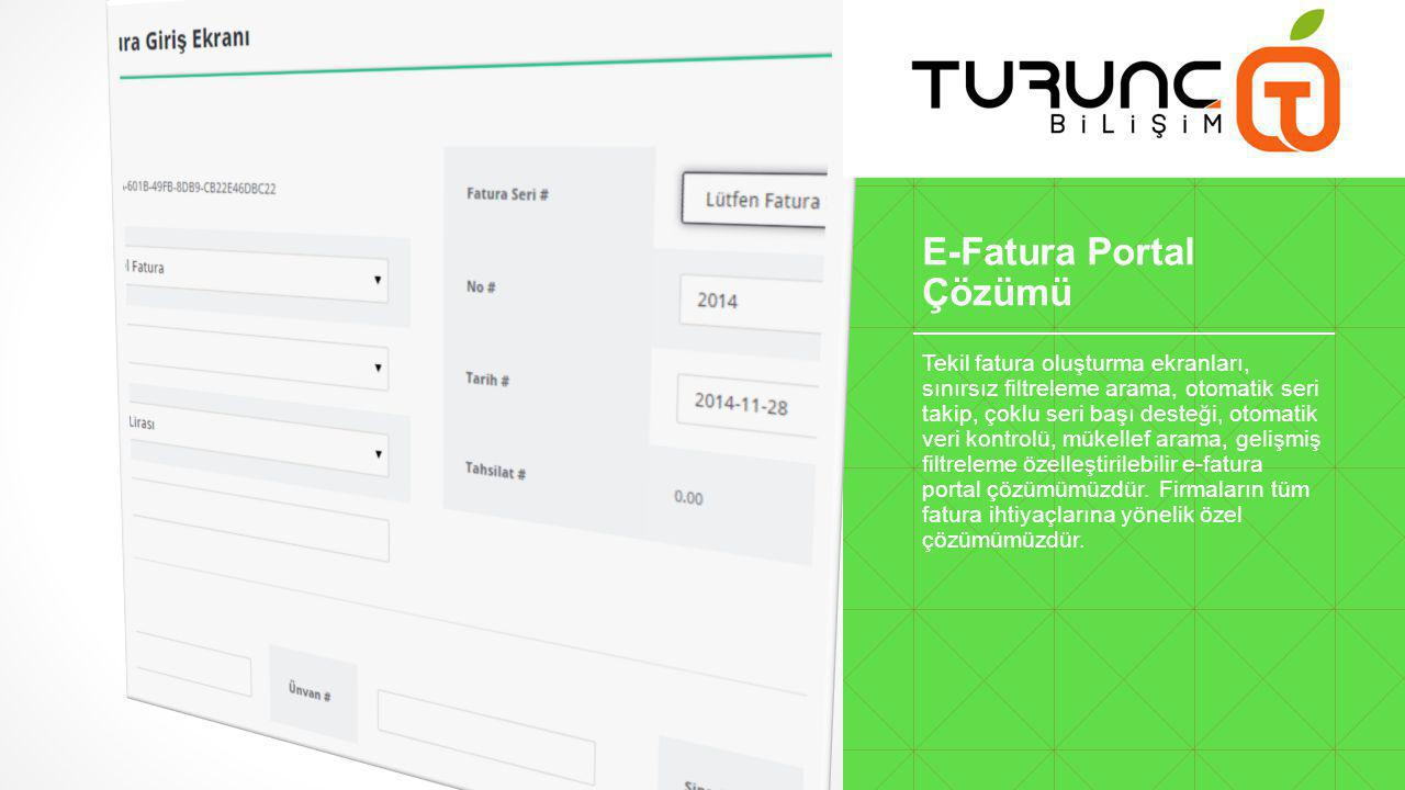 E-Fatura Portal Çözümü