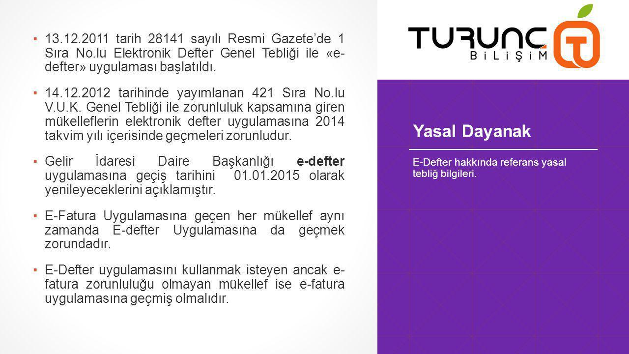 13. 12. 2011 tarih 28141 sayılı Resmi Gazete'de 1 Sıra No