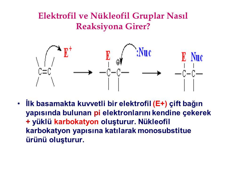 Elektrofil ve Nükleofil Gruplar Nasıl Reaksiyona Girer