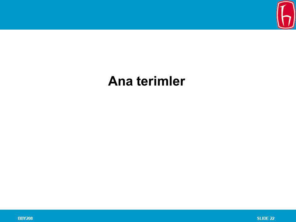 Chapter 8 Experiments Ana terimler BBY208