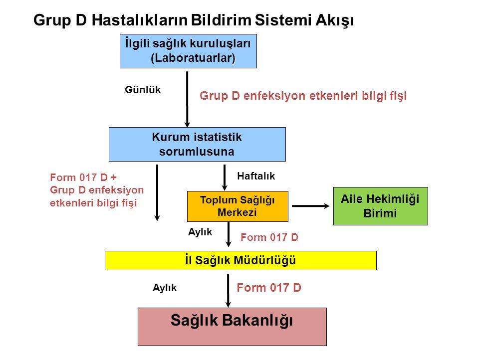 Grup D Hastalıkların Bildirim Sistemi Akışı
