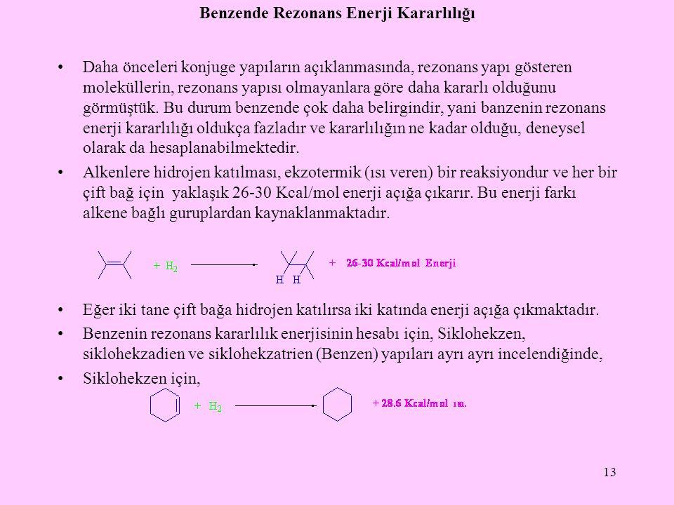 Benzende Rezonans Enerji Kararlılığı