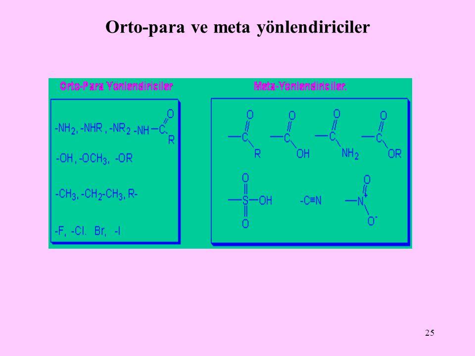 Orto-para ve meta yönlendiriciler