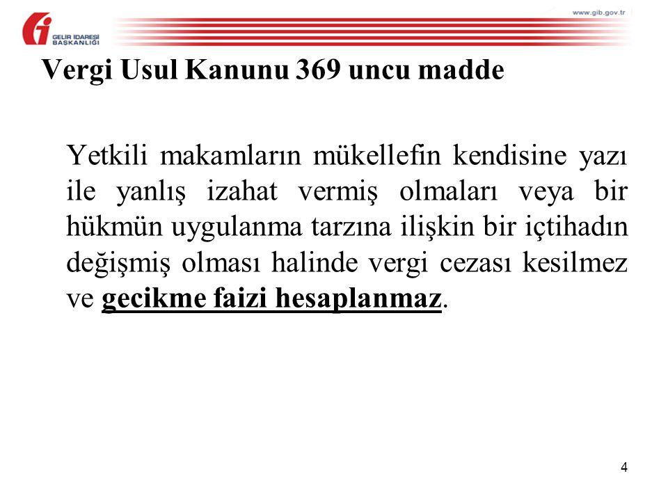 Vergi Usul Kanunu 369 uncu madde
