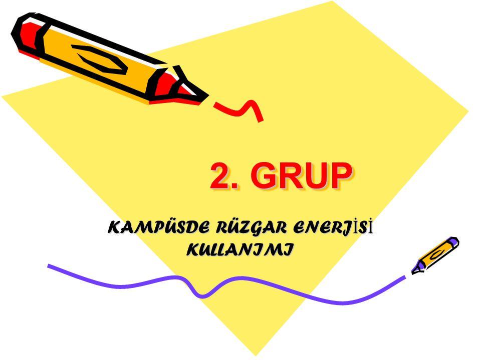 KAMPÜSDE RÜZGAR ENERJİSİ KULLANIMI