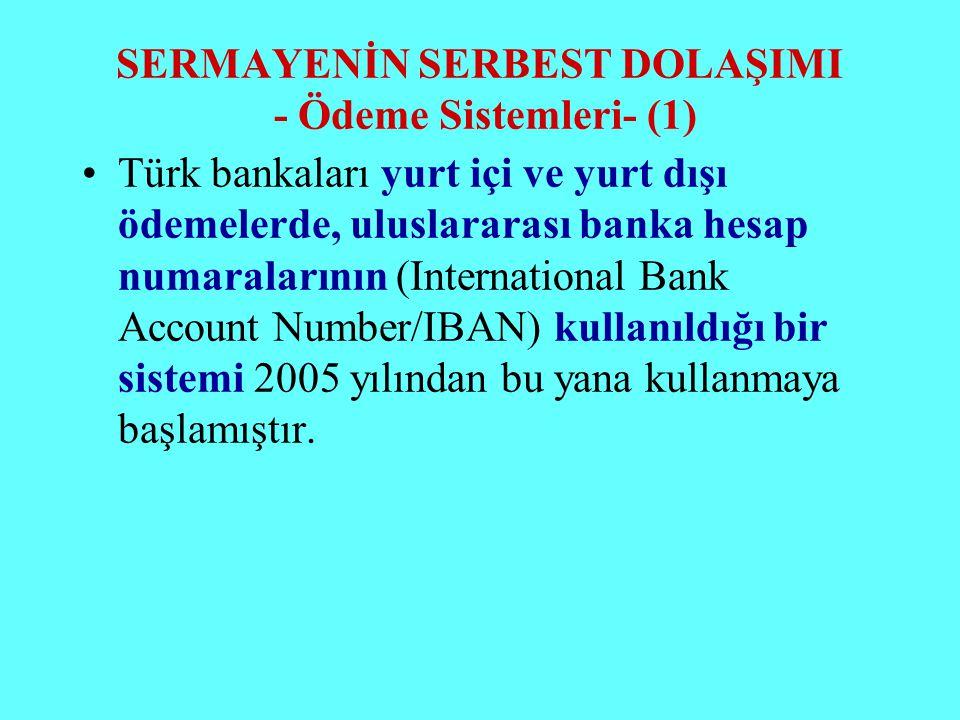SERMAYENİN SERBEST DOLAŞIMI - Ödeme Sistemleri- (1)