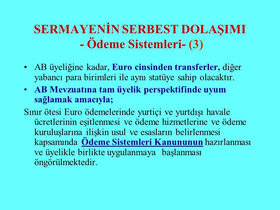 SERMAYENİN SERBEST DOLAŞIMI - Ödeme Sistemleri- (3)