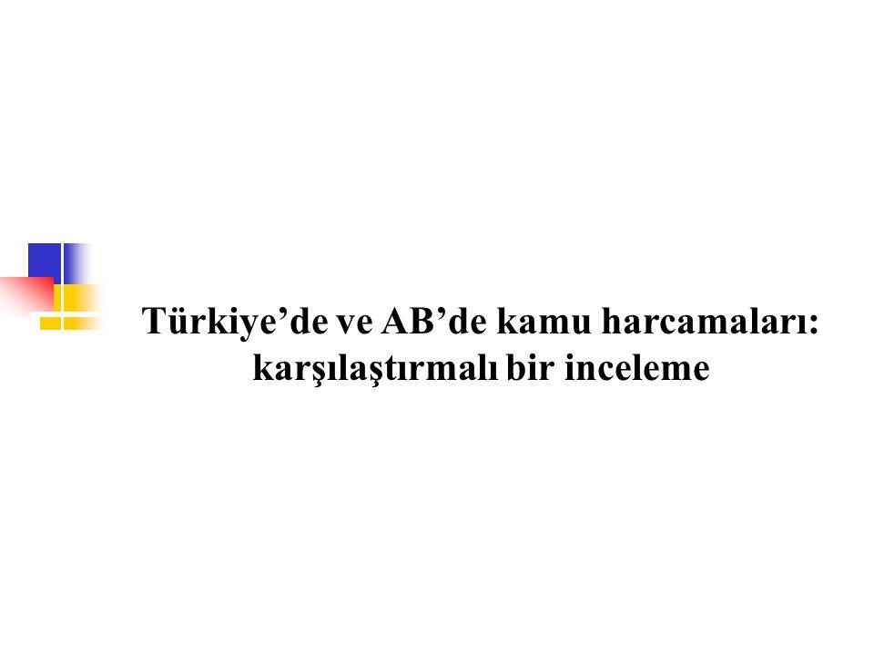 Türkiye'de ve AB'de kamu harcamaları: karşılaştırmalı bir inceleme