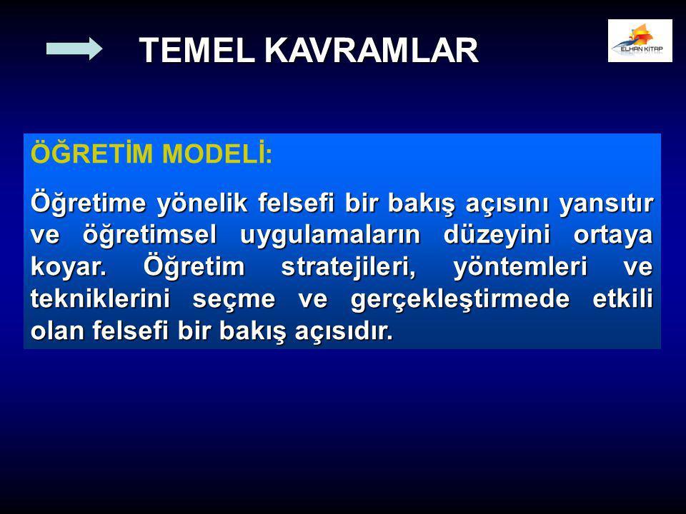 TEMEL KAVRAMLAR ÖĞRETİM MODELİ: