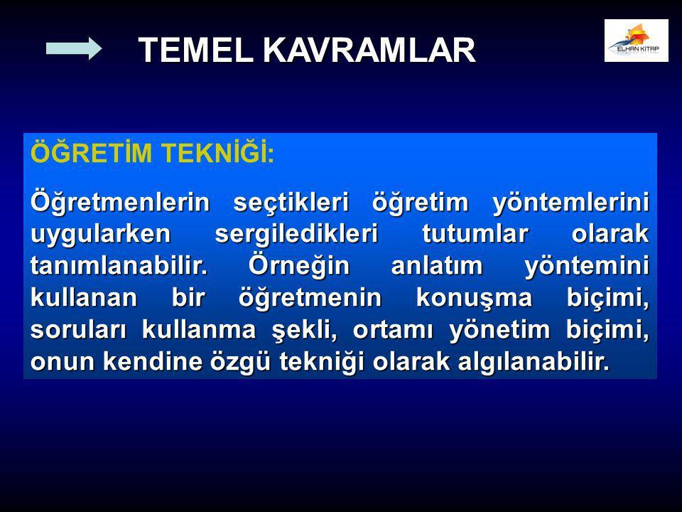 TEMEL KAVRAMLAR ÖĞRETİM TEKNİĞİ: