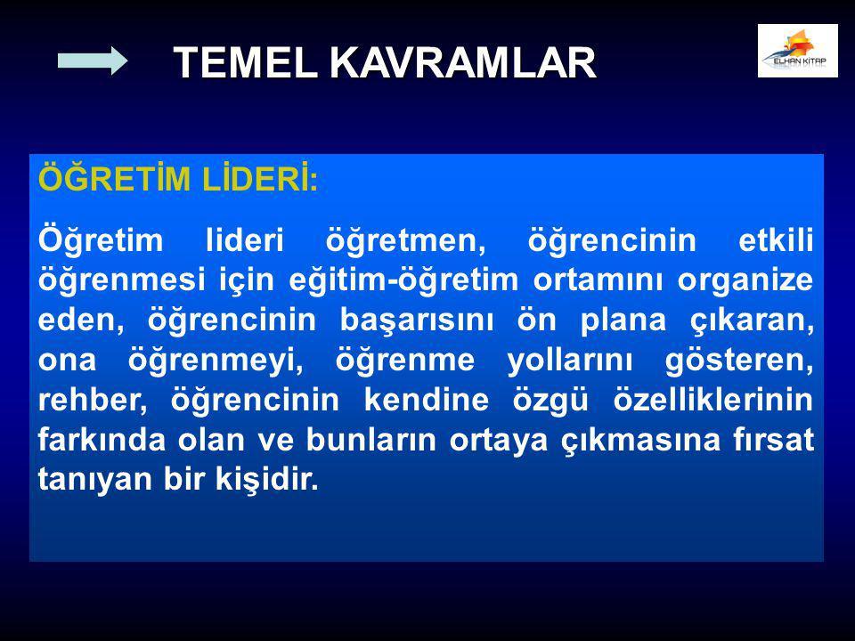 TEMEL KAVRAMLAR ÖĞRETİM LİDERİ:
