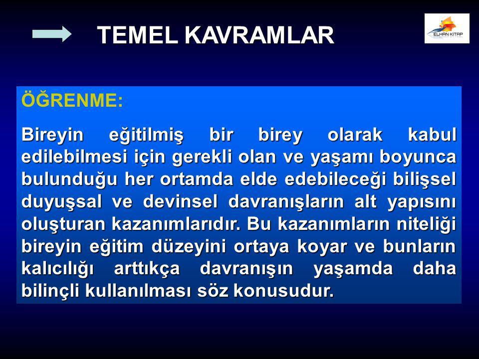 TEMEL KAVRAMLAR ÖĞRENME: