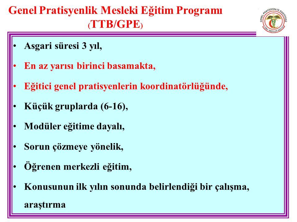 Genel Pratisyenlik Mesleki Eğitim Programı (TTB/GPE)