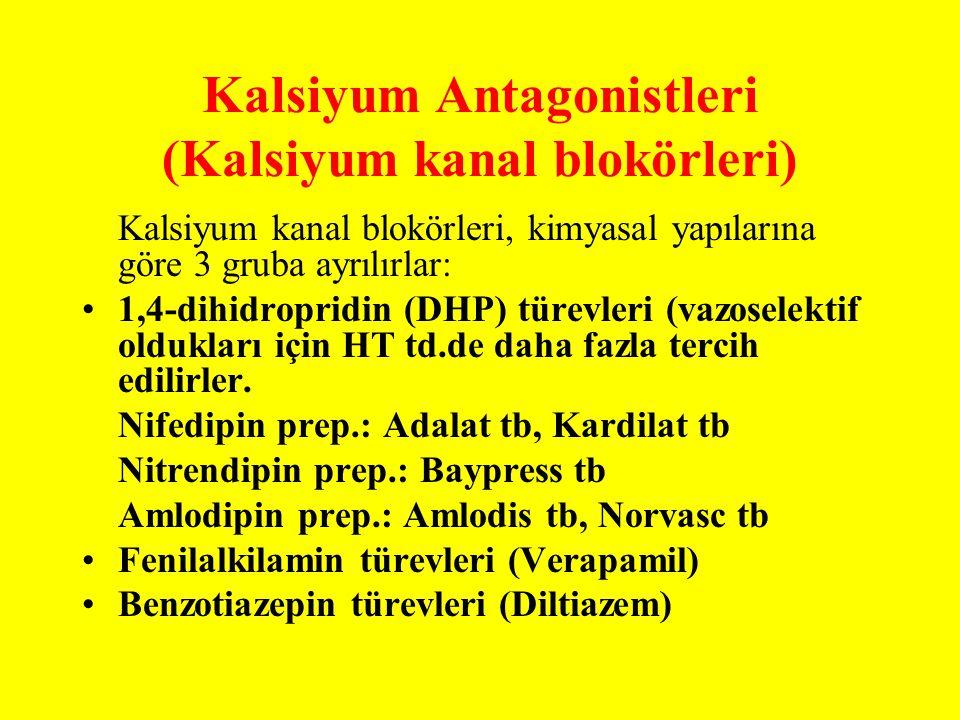 Kalsiyum Antagonistleri (Kalsiyum kanal blokörleri)