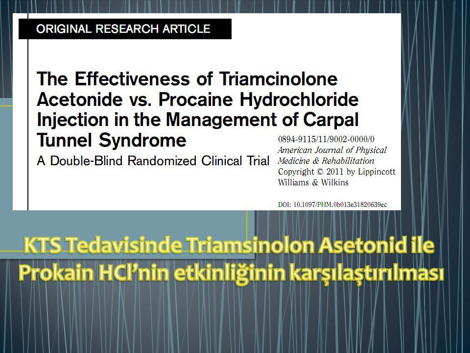 KTS Tedavisinde Triamsinolon Asetonid ile