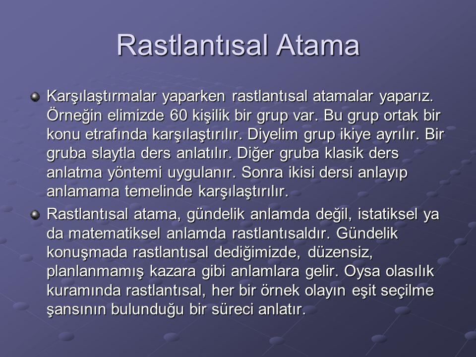 Rastlantısal Atama