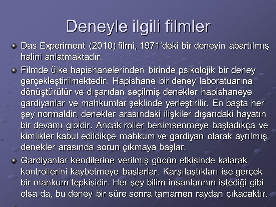 Deneyle ilgili filmler