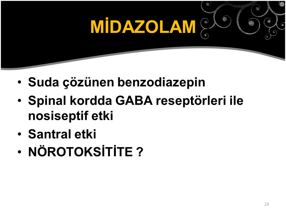 MİDAZOLAM Suda çözünen benzodiazepin