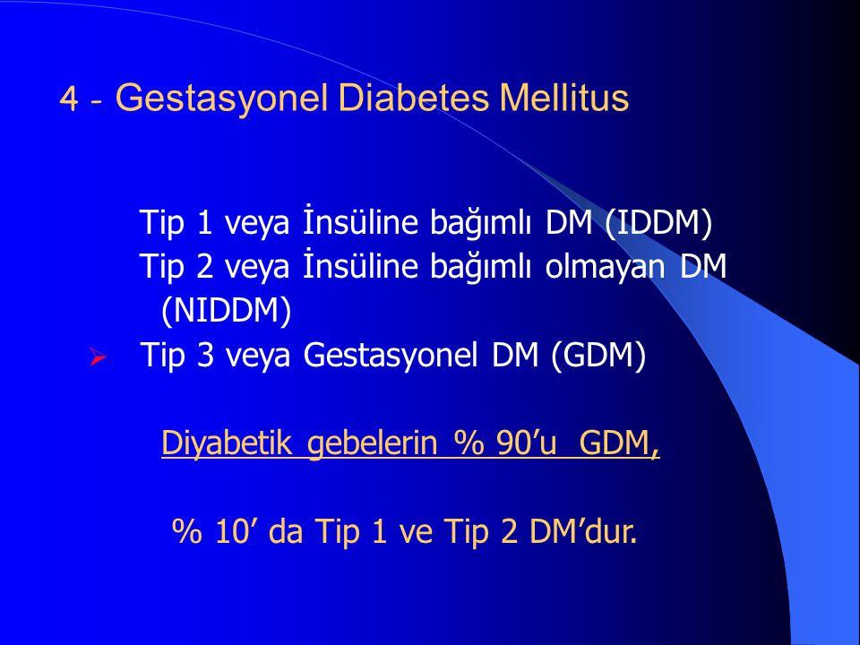 4 - Gestasyonel Diabetes Mellitus
