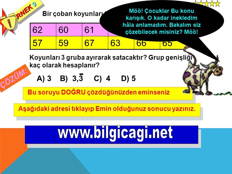 Ö www.bilgicagi.net 62 60 61 58 57 59 67 63 66 65 ÇÖZÜM: